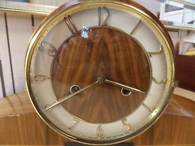 Very Nice Stanton Chiming Mantle Clock With Smiths Movement. Only Runs 10 Sec