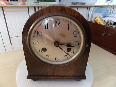 "Lovely Vintage Mantle Clock. 8"" High With 4.5"" Dial, Super Running Condition"