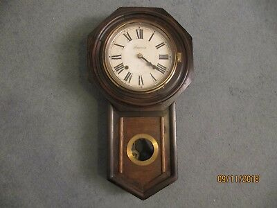 Antique ~ Original American  ANSONIA Wood Cased  Wall Clock