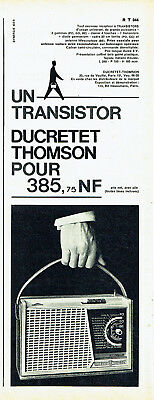 Publicité advertising 118  1960   transistor Ducretet-Thomson RT 044