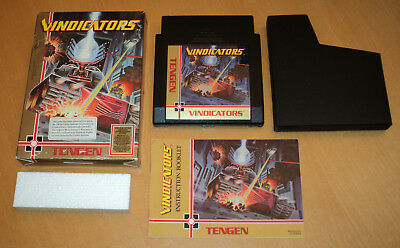 UK PAL? Nintendo NES Unitec Systems Vindicators game Tengen complete CIB boxed