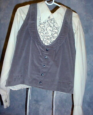 Medium Vest And Ruffled Shirt For  Old Time Photo Mens