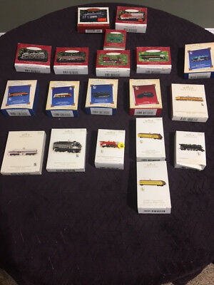 Vintage Hallmark Ornaments: Lionel Trains - Lot of (19): 1996-2011
