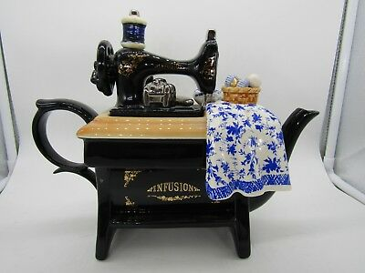 Paul Cardew Design Large Sewing Machine Teapot Made in England
