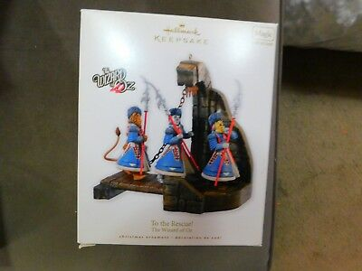 "2010 Hallmark Keepsake ""To The Rescue"" The Wizard of Oz Lights & Sound NIB"