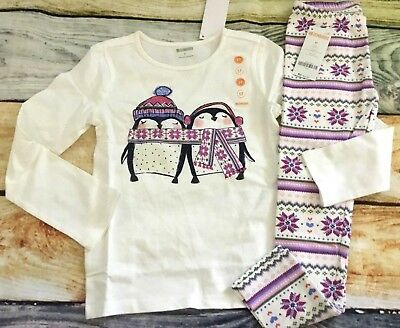 Gymboree 3T 4T 5T Mix N Match Penguin Friends Top Fair Isle Leggings NWT Outlet