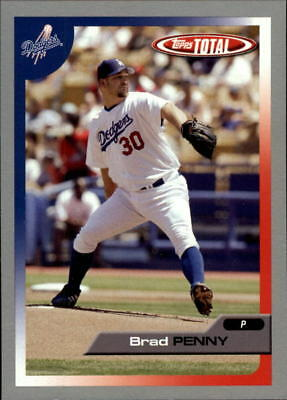 2005 Topps Total Silver Los Angeles Dodgers Baseball Card #72 Brad Penny