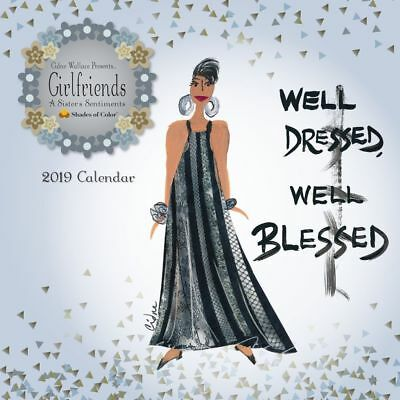 2019 Girlfriends Wall Calendar, Ethnic Art by Shades of Color