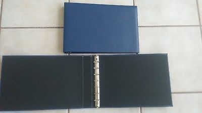 7-Ring 3-on-a-Page Business Check Book Binder - Blue NEW