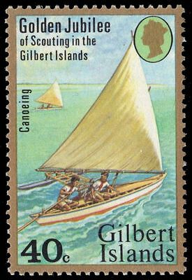 GILBERT ISLANDS 307 (SG63) - National Scout Movement 50th Anniversary (pa88623)