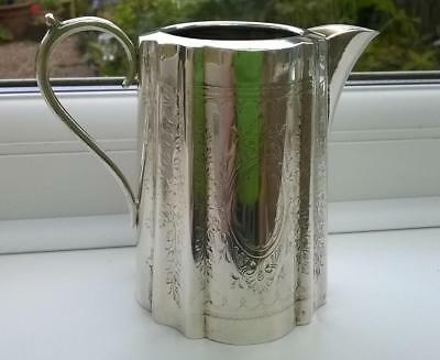 Pretty Victorian Small Jug Barker Ellis Silver Plated with Engraved design