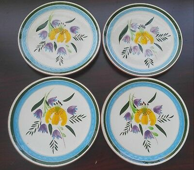 "Lot of 4 Vintage Stangl 8"" Plates Country Garden (4.5lb)"