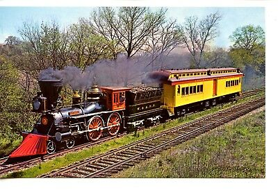 Famous Historic Engine General-Civil War RR Train Locomotive-Vintage Postcard