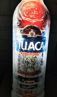 "Tuaca Liqueur Lighted Bar Sign Advertising 24"" x 7"" Rare Sign. New."