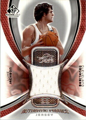 0a32aed40 2005-06 SP Game Used Authentic Fabrics Basketball Card  LU Luke Jackson  Jersey