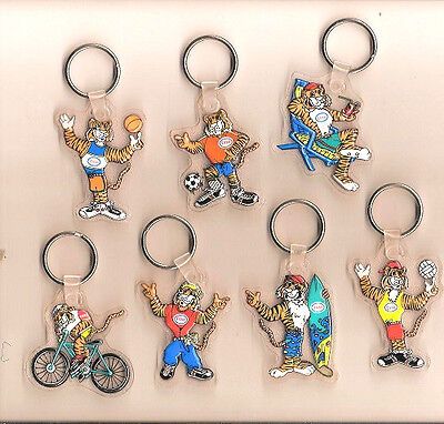 Esso Tiger Vintage Keychains  7 Different New/unused