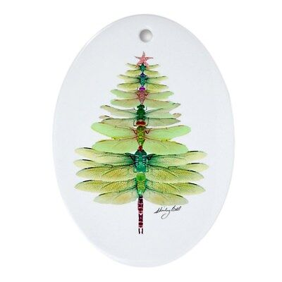 CafePress Dragonfly Oval Holiday Christmas Ornament (302800862)