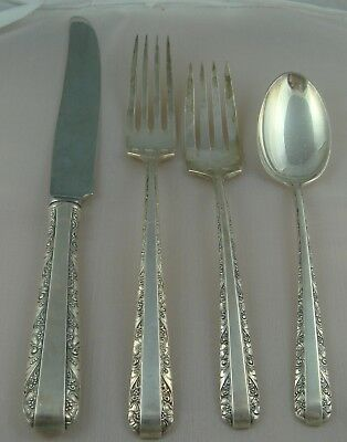 $ Towle Candlelight Sterling Silver Four Piece Setting New French Blade Knife