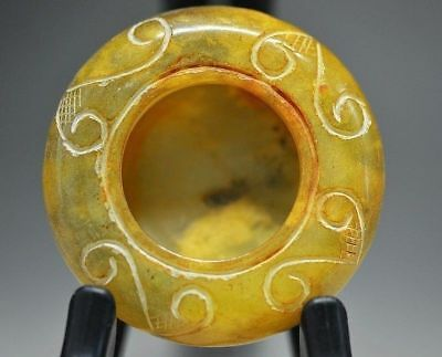 Exquisite workmanship Chinese natural jade carved flower style brush washer Y97