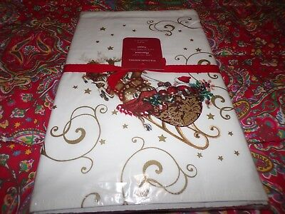 4 Williams Sonoma Twas the Night Before Christmas Cloth Placemats, NEW