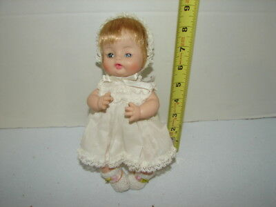 Vintage Doll Vinyl Sleep Eyes Lashes 9 Inches Baby Marked Alexander 1965