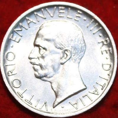 Uncirculated 1927 Italy 5 Lire Silver Foreign Coin