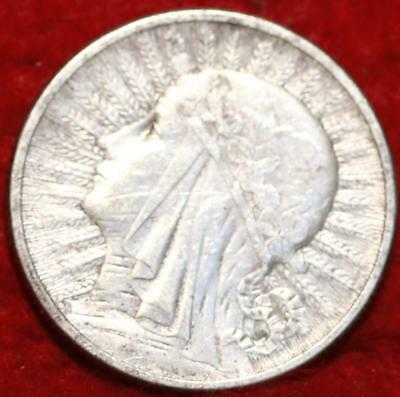1933 Poland 2 Zlotych Silver Foreign Coin