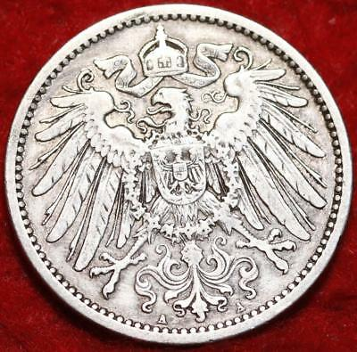 1906-A Germany 1 Mark Silver Foreign Coin