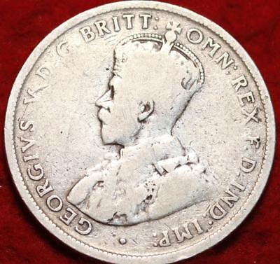 1919M Australia 2 Shillings Florin Silver Foreign Coin