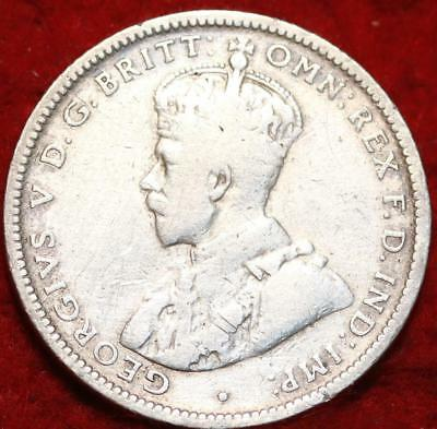 1924 Australia Shilling Silver Foreign Coin
