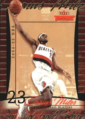 8152b2b44f0 2004-05 Fleer Throwbacks 50 Trail Blazers Basketball Card  16 Darius Miles   50