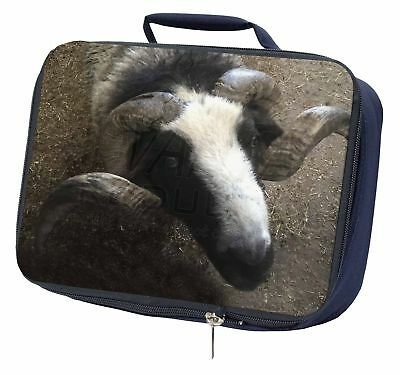 New Goat Face Navy Insulated School Lunch Box Bag, GOAT-3LBN