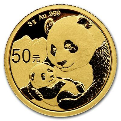 CHINE 50 Yuan Or 3 grammes Panda 2019