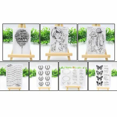 Silicone Clear Stamp Transparent Rubber Stamps Cling DIY Scrapbook Card