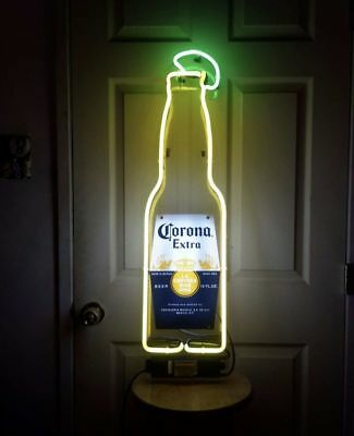 """Corona Extra Bottle Beer Bar Ford Car Levis Antique Lamp Neon Light Sign 14""""x5"""""""