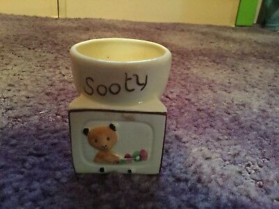Sooty Vintage Egg Cup By Keele St. Pottery