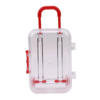 Mini Rolling Travel Suitcase Wedding Favors Party Reception Baby Candy Box LC
