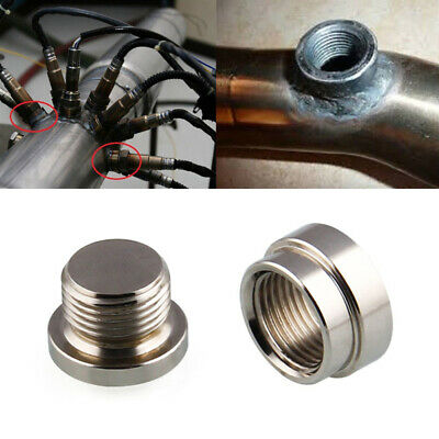 M18x1.5 O2 Oxygen Sensor Stainless Steel Weld On Bung & Plug Nut & Cap Kit