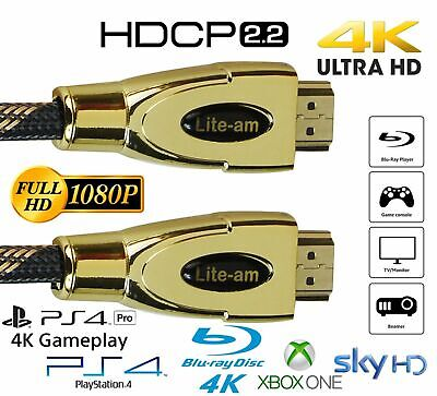 High Quality HDMI Cable v2.0 1M-20M HDCP 2.2 High Speed 4K 1080p UltraHD 3D Lead