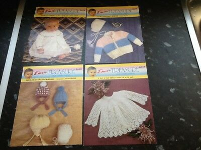 Four Vintage Emu Treasures Baby Knitting Patterns No Reserve