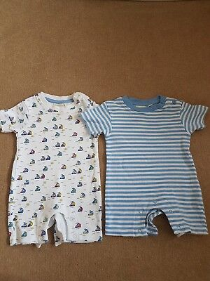 Jojo Maman Bebe 3-6 months boys romper suits washed but never worn