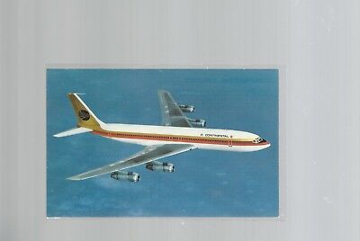 Continental Airlines issued Boeing 707 -320C    postcard