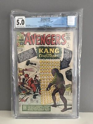 The Avengers #8 Kang The Conqueror, 1st Appearance - 1964 Comic
