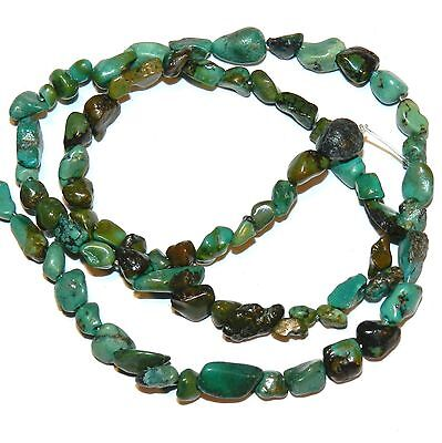 """NG2084 Blue-Green Turquoise Small 4mm - 8mm Nugget Stabilized Gemstone Beads 15"""""""