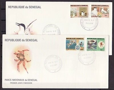 Senegal, Scott cat. 541-544. National Parks w/Birds issue. 2 First day covers