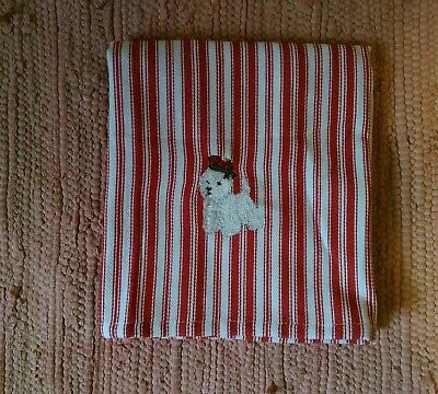 Westie West Highland White Terrier Red/White Kitchen Towel