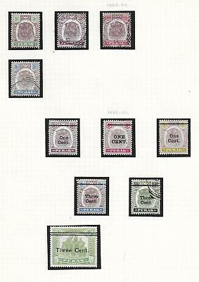 Malaya/PERAK stamps 1895 Collection of 10 CLASSIC stamps HIGH VALUE!