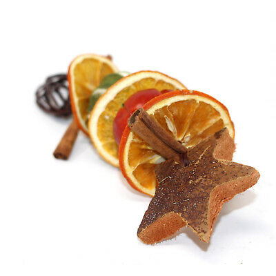 15cm WHOLE DRIED LIME & SLICES CHRISTMAS FESTIVE DECORATIVE STAR TREE HANGER