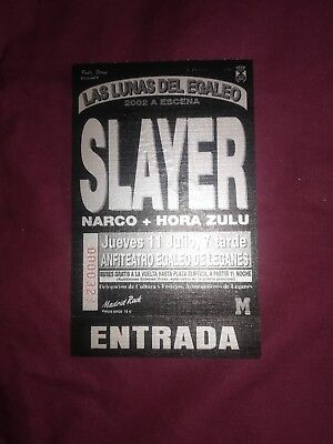 Entrada Slayer Leganes 2002