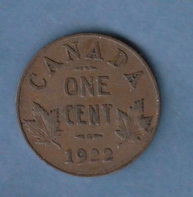 1922 Canada small Cent w/ George V- scarce date, inv#1274